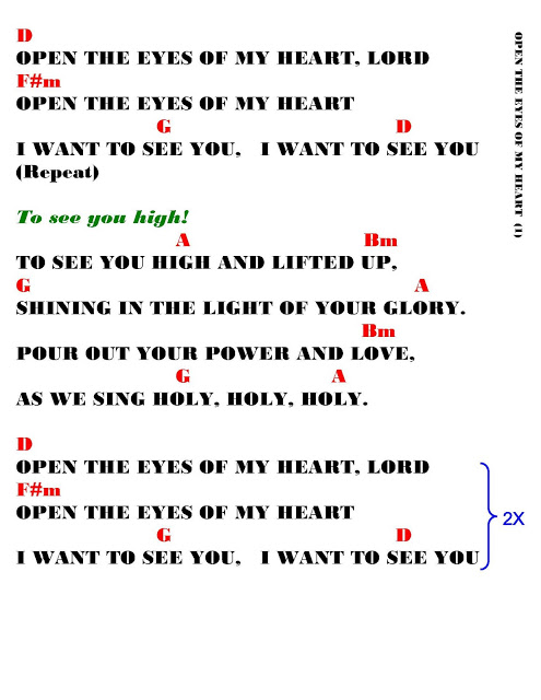 Open The Eyes Of My Heart Quotes Quotesgram