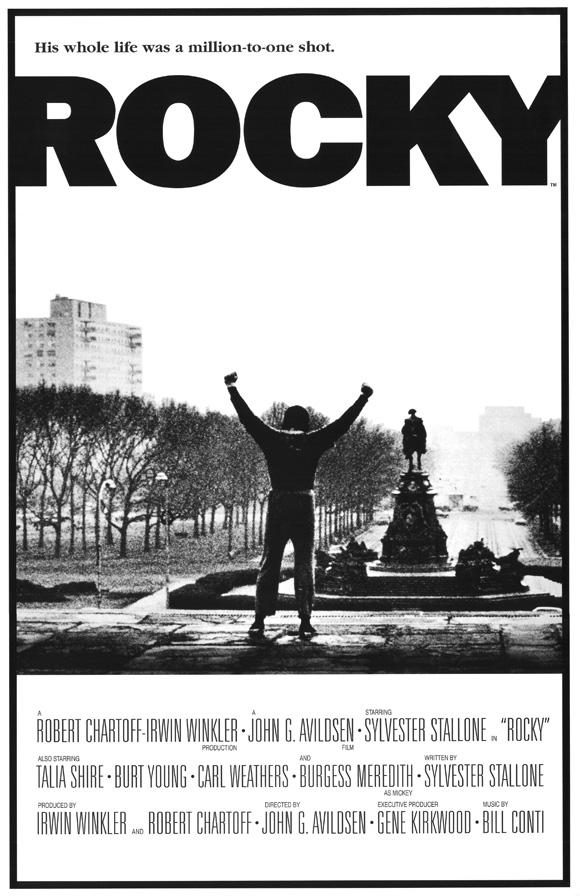 Rocky Balboa Boxing Winning Motivation Stallone Poster Black White Photo Quote