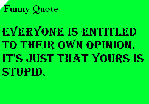 Opinion Funny Quotes. QuotesGram