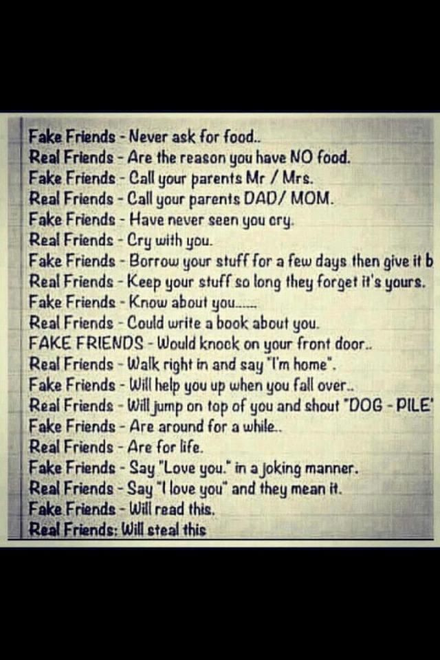 Fake Friends Vs Real Friends Quotes. QuotesGram