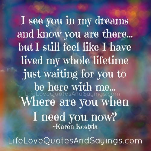 Dream Love Quotes And Sayings. QuotesGram