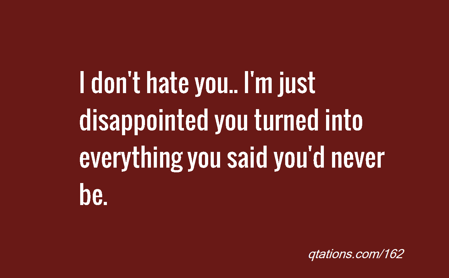 Im Disappointed In You Quotes. QuotesGram