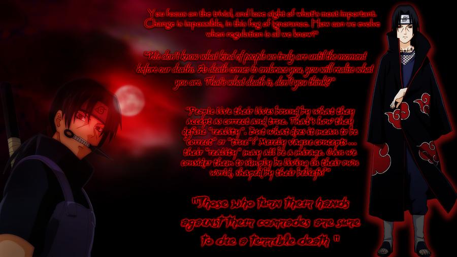 Itachi Love Quotes Itachi Quotes Wallpape...