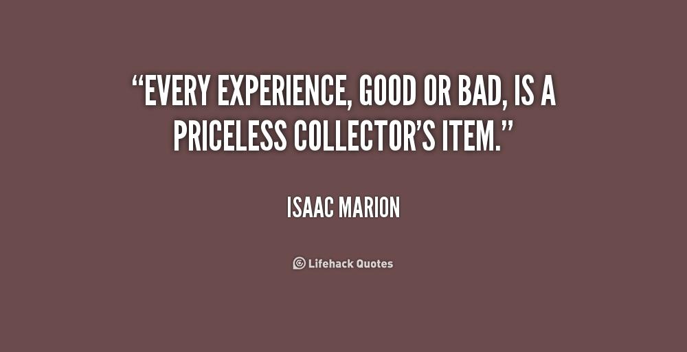 bad experience quotes quotesgram