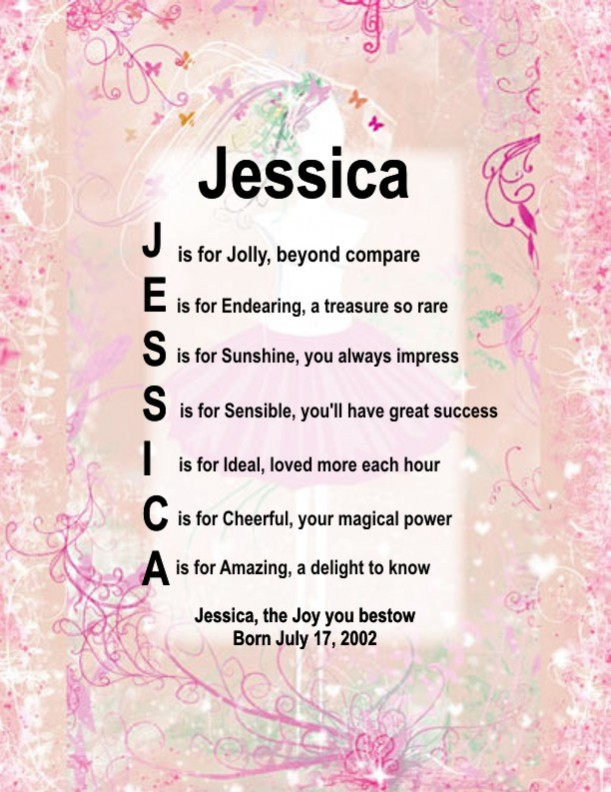 Quotes On The Name Jessica QuotesGram