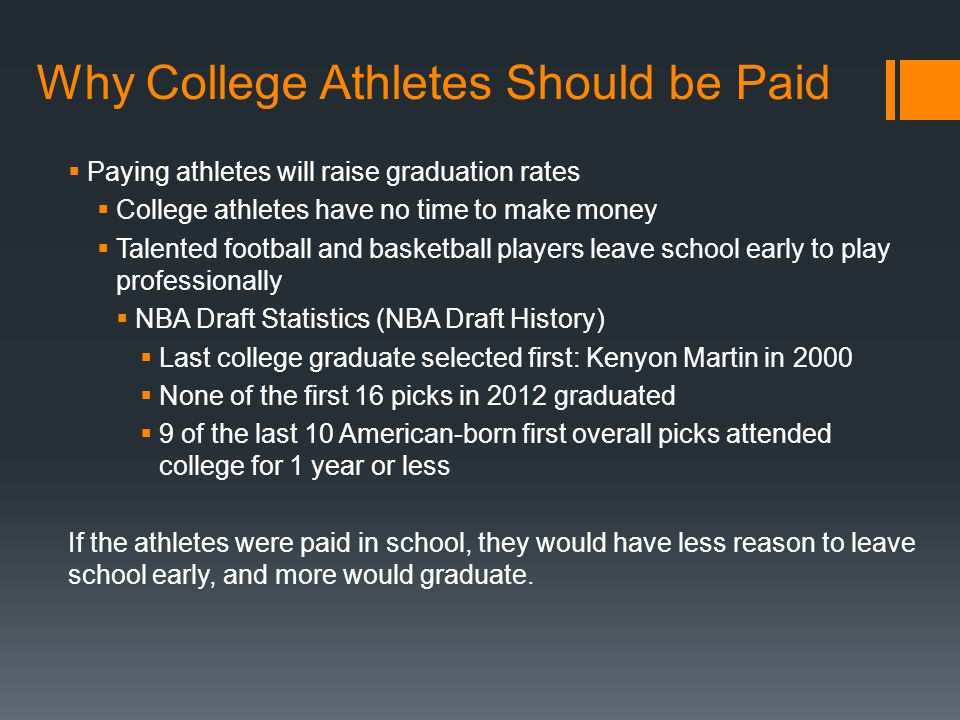 Should College Student-Athletes Be Paid? Both Sides of the Debate