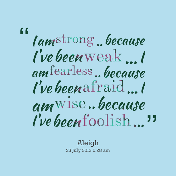 Commit I am strong quote