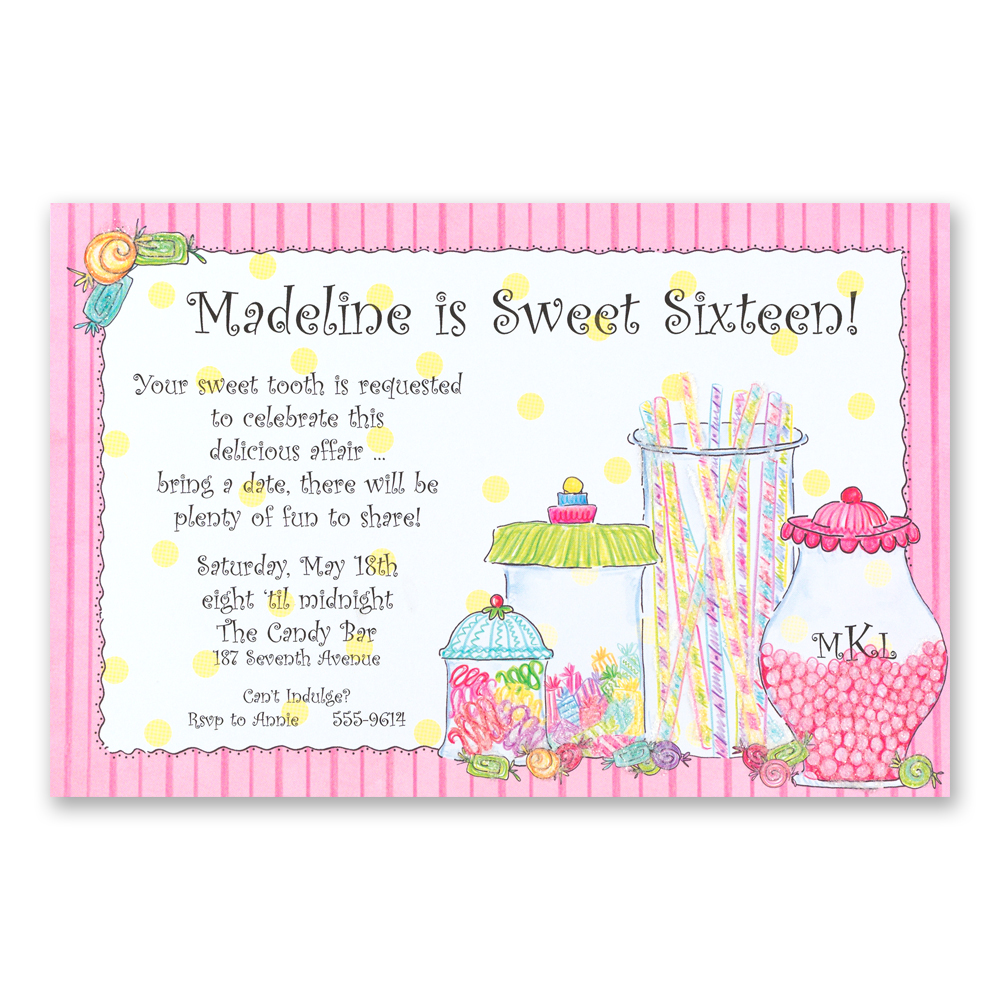Birthday Quotes For Invitations: Invitation For Birthday Candy Quotes Sayings. QuotesGram