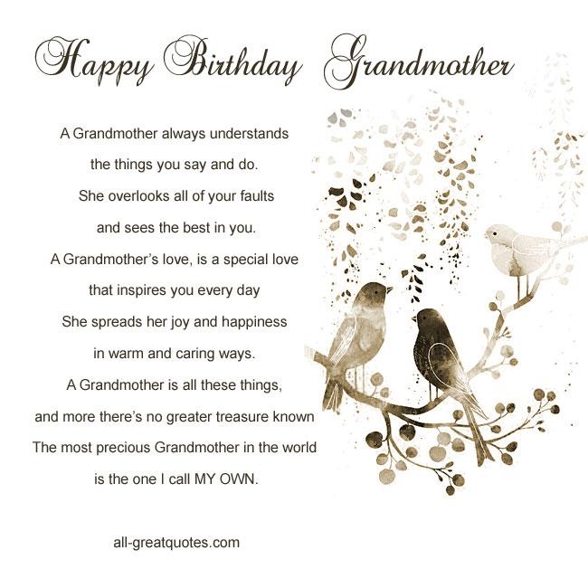 Happy Birthday Grandma Quotes. QuotesGram