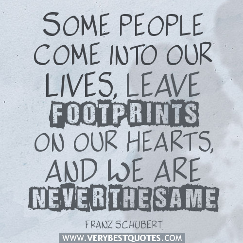 Friends Come And Go Quotes Footprints: Quotes About Friends Leaving Footprints. QuotesGram