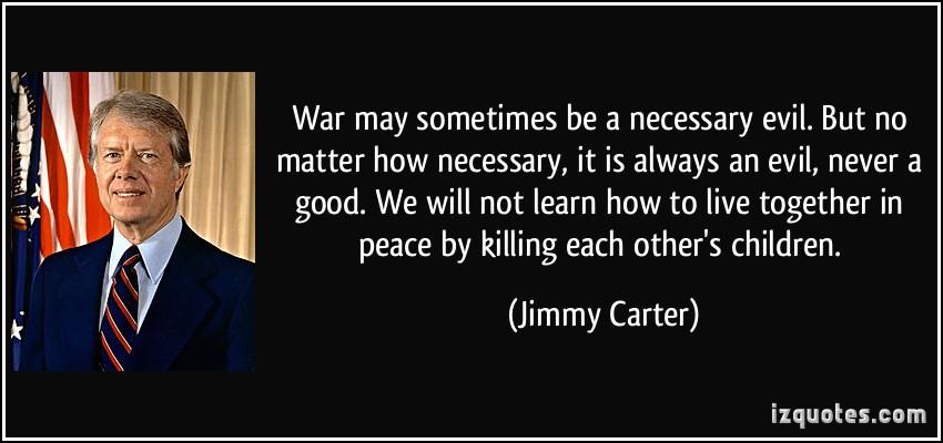 war necessary evil essay