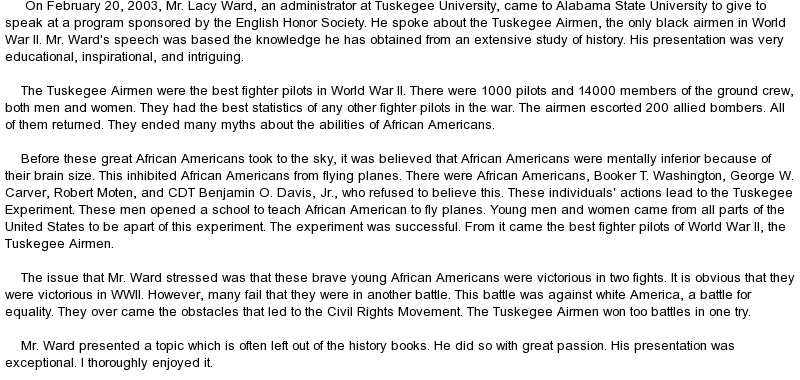 Tuskegee Experiment Essay