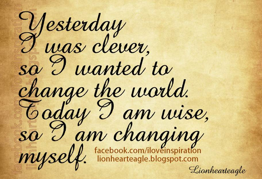 sayings about changing yourself for relationship