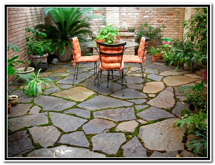 Back patio quotes quotesgram for Small stone patio ideas