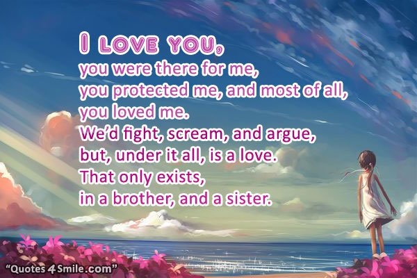 I love you sister quotes from brother-1847