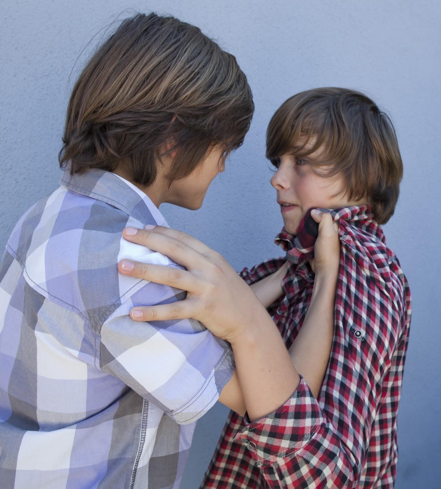 Little kids fighting at school