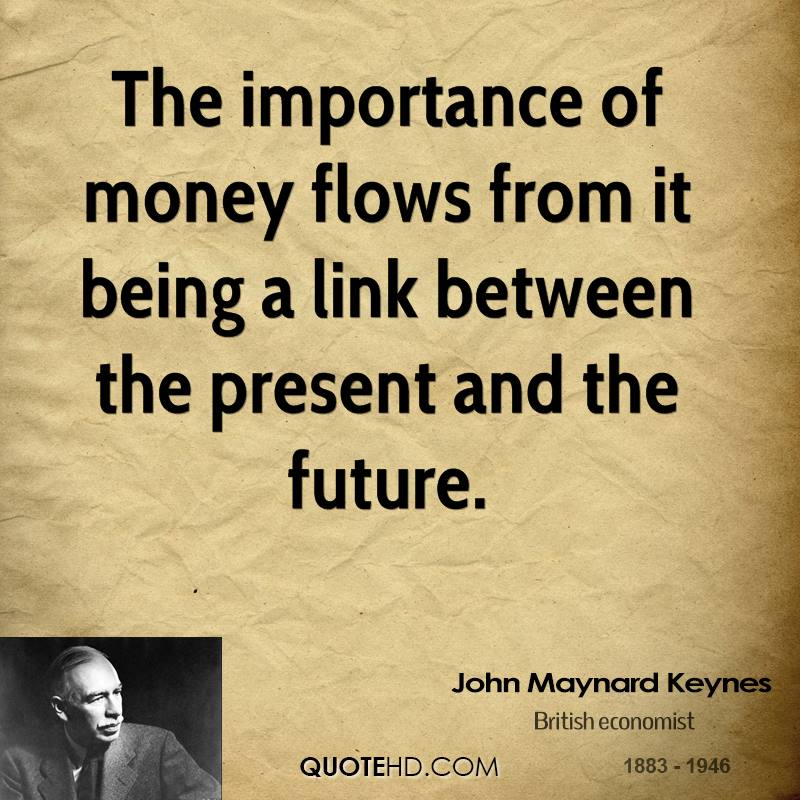 the universal importance of money Time value of money introduction time value of money (tvm) is an important concept in financial management it can be used to compare investment alternatives and.