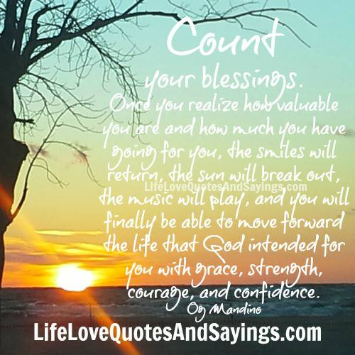 Blessing Quotes Bible: Count Your Blessings Quotes. QuotesGram