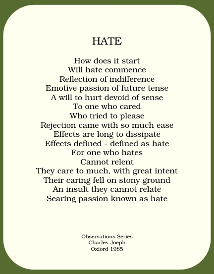 Hate Quotes And Poems Quotesgram