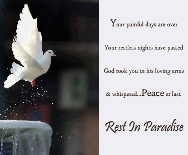 Spiritual Quotes Rest In Paradise. QuotesGram