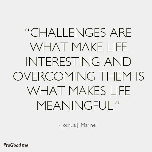 Quotes On Life And Challenges: Inspirational Quotes About Overcoming Challenges. QuotesGram
