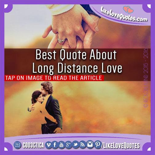 Long Distance Love Quotes Best. QuotesGram