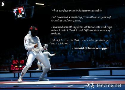 Fencing Sport Quotes Quotesgram