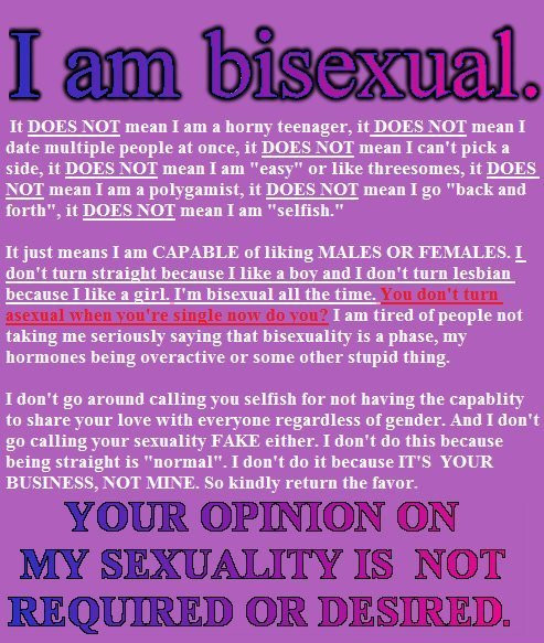 being Quotes bisexual about