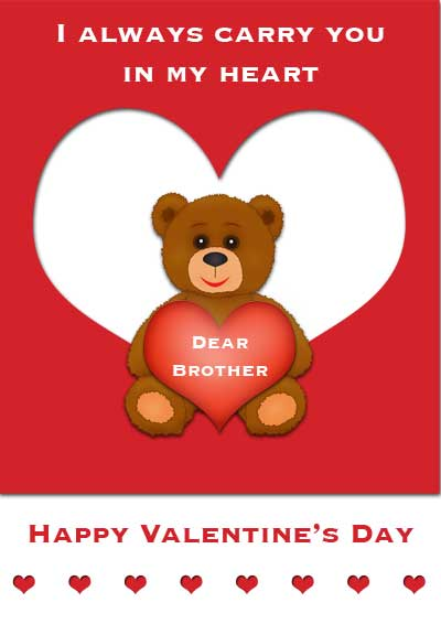 Happy Valentines Sister Quotes: Valentines Day Brother Quotes. QuotesGram