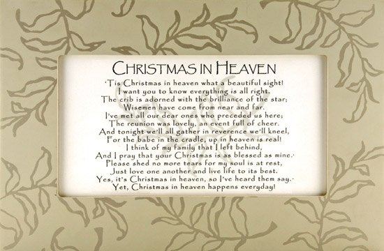 Remarkable image with christmas in heaven poem printable
