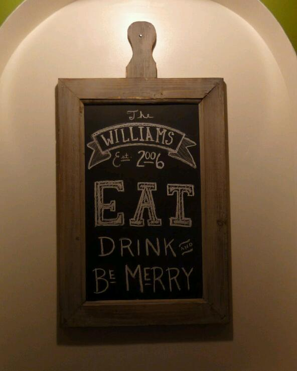 Cute kitchen chalkboard quotes quotesgram for Kitchen chalkboard