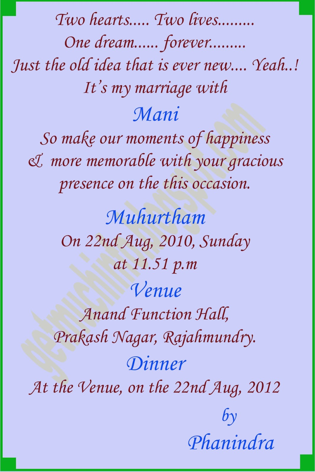 Format Of Wedding Invitation In English as beautiful invitation ideas
