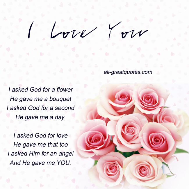 Love Finds You Quote: I Asked God Quotes. QuotesGram