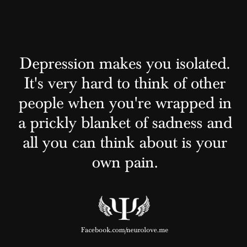 Sad Quotes About Depression: Depression Hurts Quotes Alone. QuotesGram