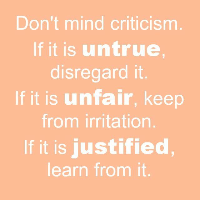 quotes on taking criticism  quotesgram
