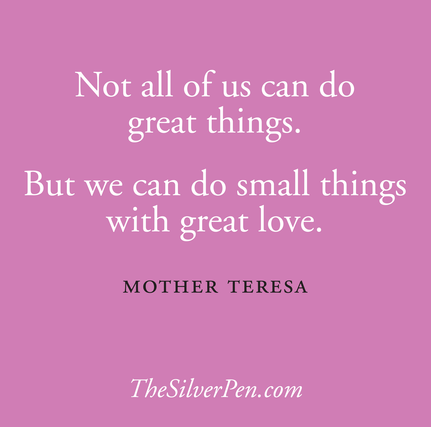 Inspirational Mom Quotes: Great Love Mother Teresa Quotes. QuotesGram