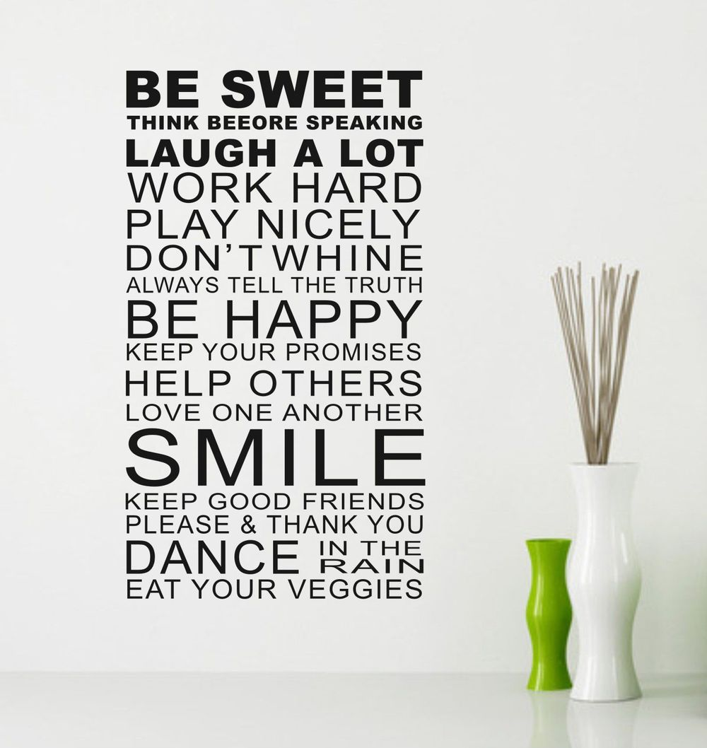 Word Art Home Decor: Quotes Sayings Wall Decor. QuotesGram