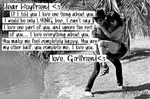 Boyfriend Quotes From Girlfriend: Dear Boyfriend Quotes From Girlfriend. QuotesGram
