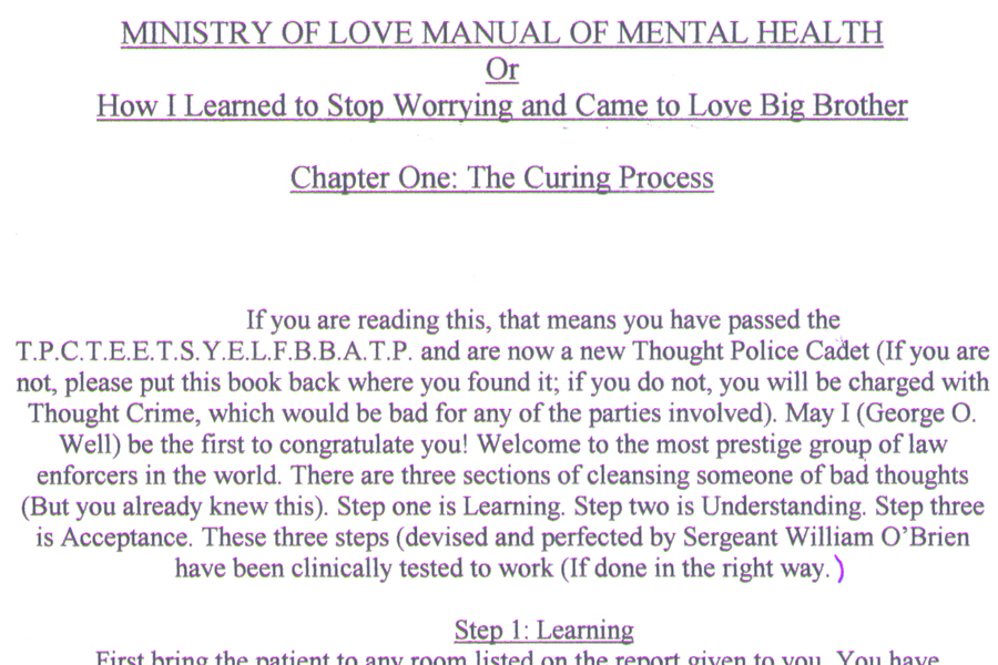 Ministry Quotes Quotesgram: 1984 Ministry Of Love Quotes. QuotesGram