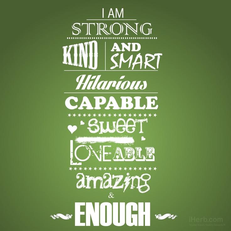 I Am Good Enough Quotes I Am Enough Quotes. Qu...