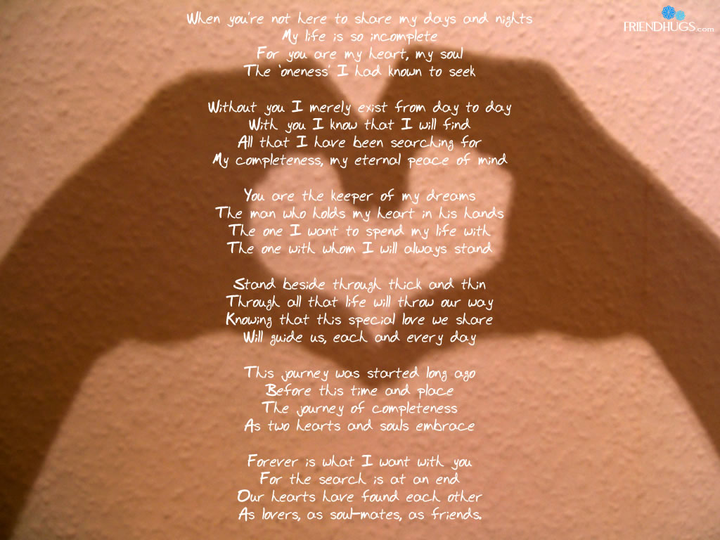 Poems love friendship and about short 107 Cute