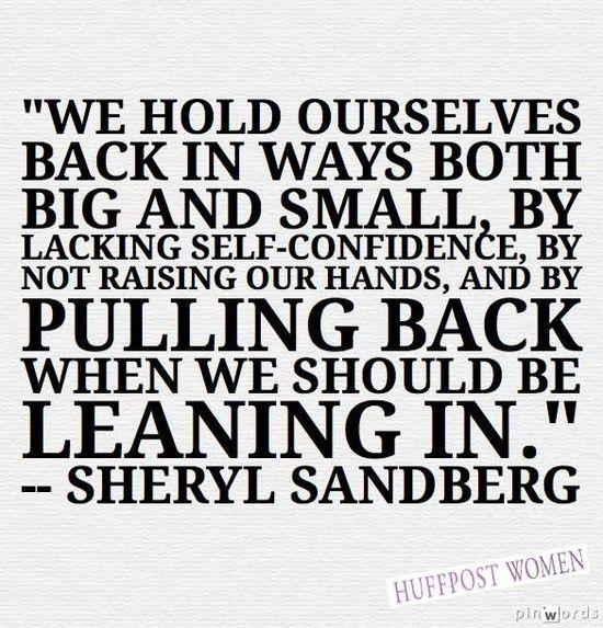 Sandberg Lean In Quotes. QuotesGram