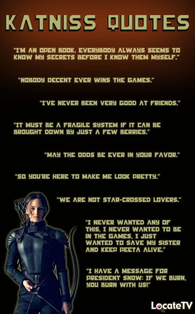 Quotes About Katniss Everdeen. QuotesGram Quotes From The Hunger Games Katniss