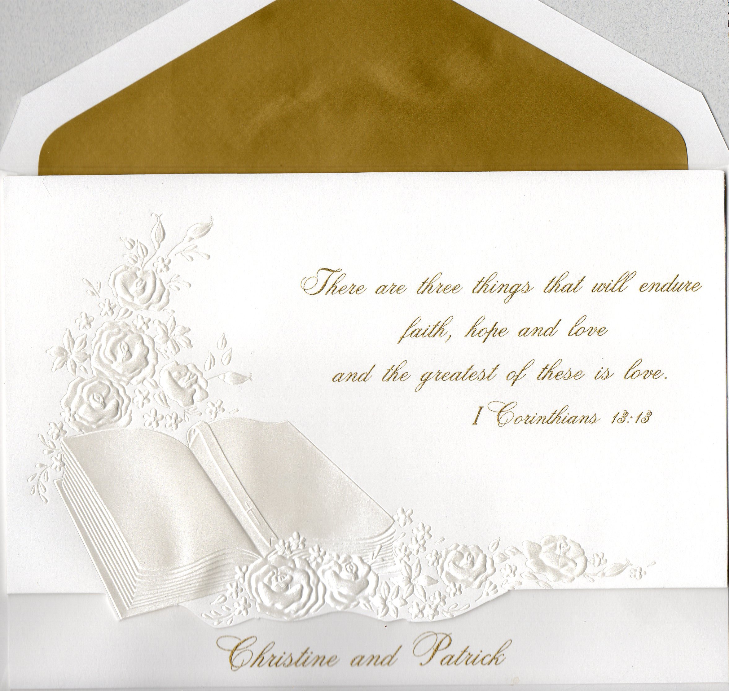 wedding invitation bible verses the
