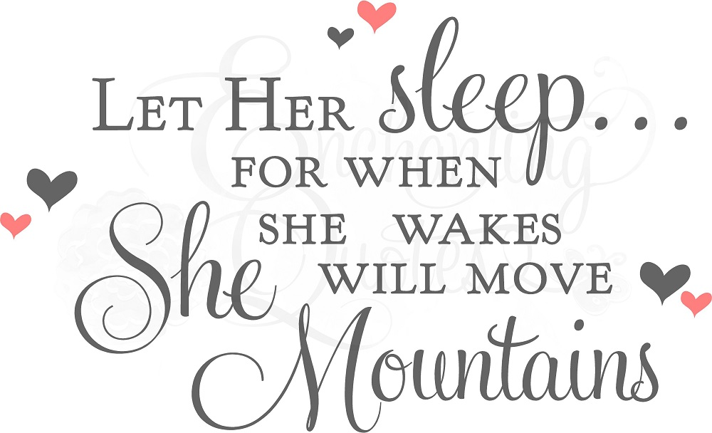 Nice Quotes For Baby Girl: Cute Sleeping Quotes. QuotesGram