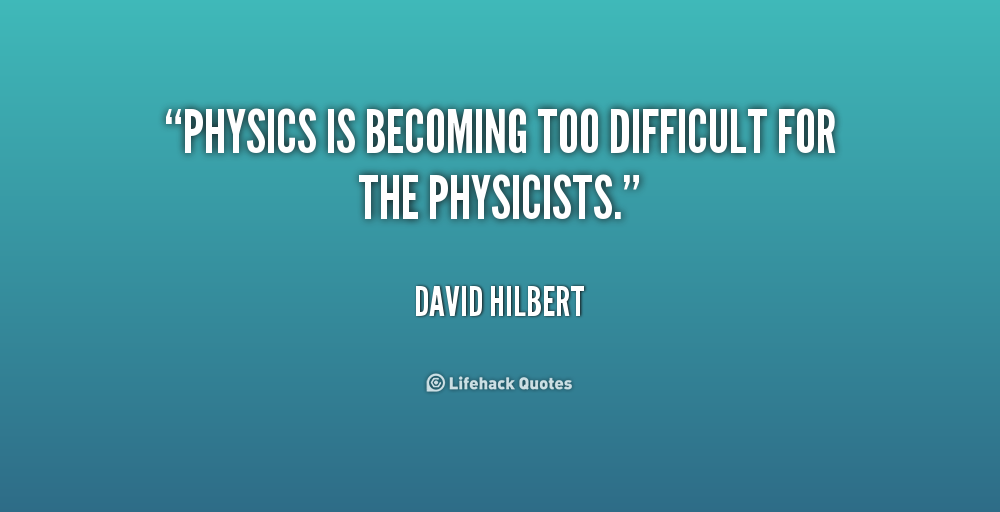 L Quotes About Physics. QuotesGram