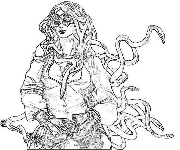 Medusa greek mythology quotes quotesgram for Greek mythology coloring pages