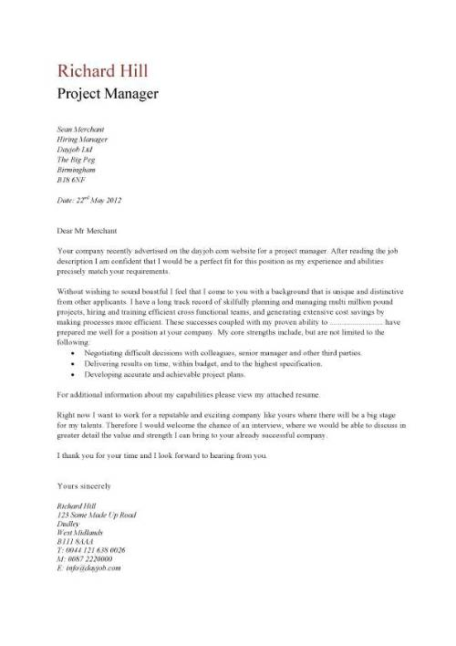 351133147-pic_project_manager_cover_letter_example_1 Template Cover Letter For Job Application Uk Beauty The Gates on