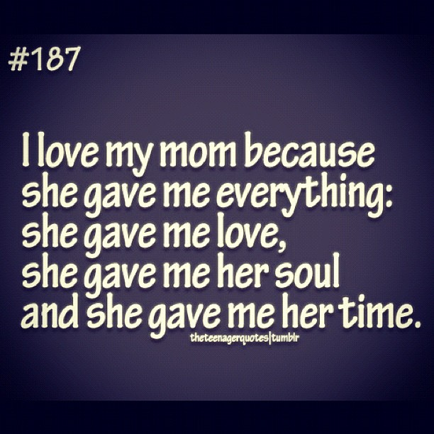 I Love My Mom Quotes From Daughter. QuotesGram
