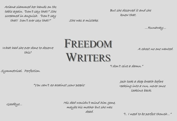 eva freedom writers Freedom writers possible answers for six step analysis of freedom writers exposed 1 list all the different examples of belonging evident in the text: the students.